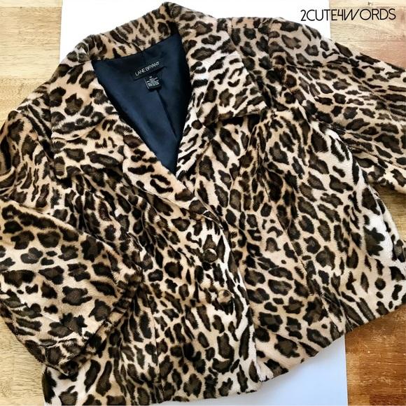 a8ae1a4ce60 Lane Bryant Leopard Print Faux Fur Swing Jacket. M 5b40c77c9539f7a0fbaa36ac